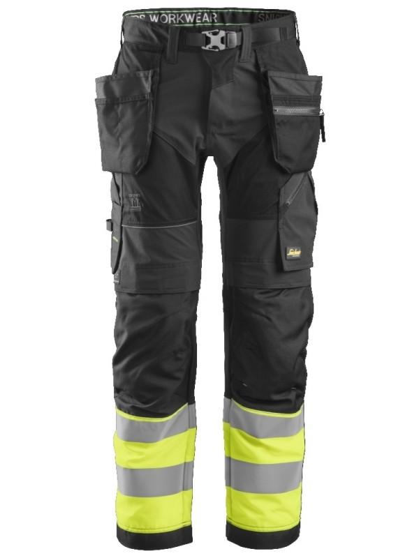 Pantalon de travail avec poches holster haute visibilité, FlexiWork, Classe 1 SNICKERS 6931