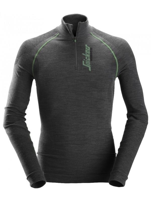 T-shirt à manches longues en laine de mérinos, FlexiWork SNICKERS 9441