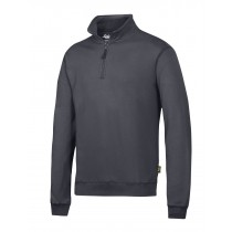 Sweat-shirt zippé 1/2 gris acier