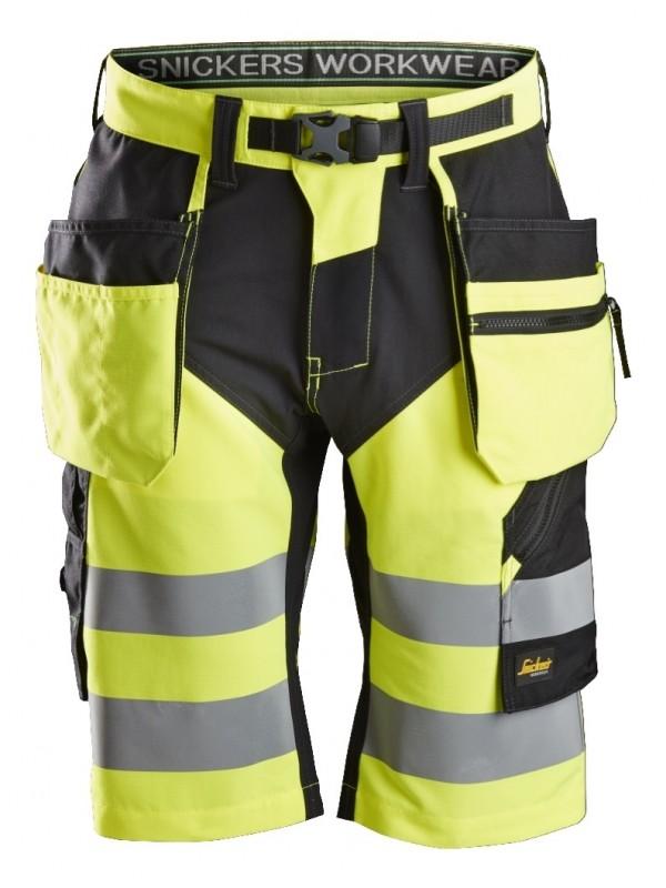 Short+ haute visibilité avec poches holster, FlexiWork, Classe 1 SNICKERS 6933