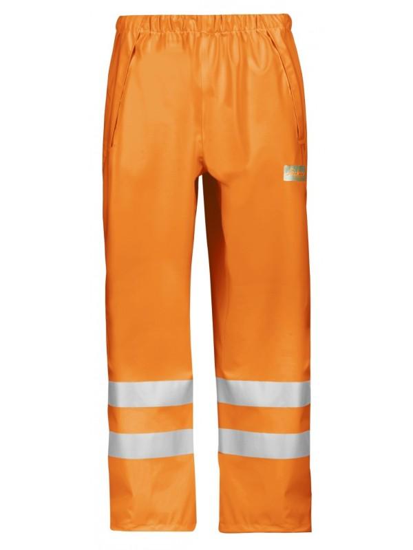 Pantalon de pluie PU haute visibilité, Classe 2 orange