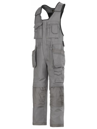 Salopette d'artisan avec poches holster, canvas + gris