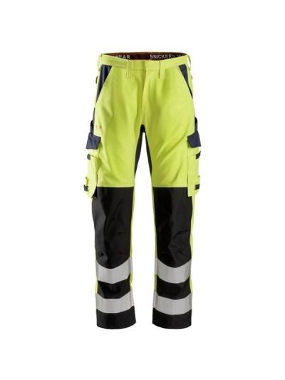 Pantalon avec renforts sur les tibias haute visibilité Classe 2 ProtecWork SNICKERS 6364