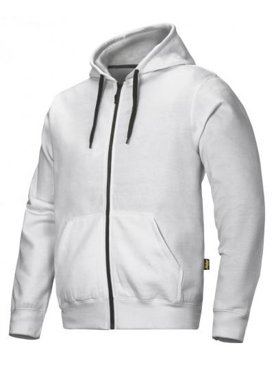 Sweat shirt à capuche zippé gris