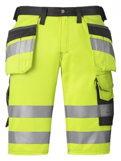 Short haute visibilité avec poches holster, classe 1 jaune