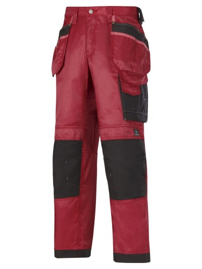 Pantalon d'artisan duratwill avec poches holsters rouge