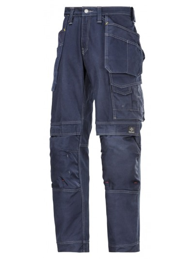 Pantalon d'artisan avec poches holster, Confort coton marine
