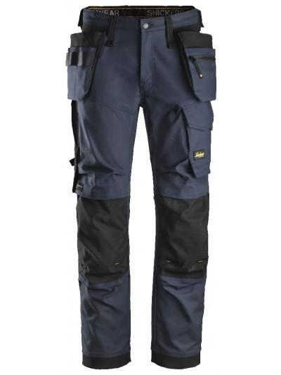 Pantalon de travail coupe large en tissu extensible avec poches holster SNICKERS 6270 Série 6
