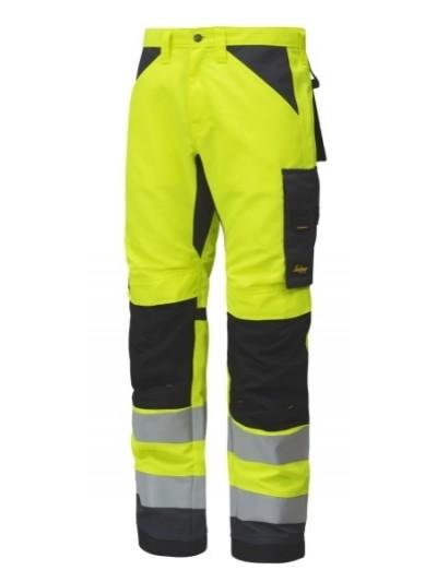 Pantalon de travail haute visibilité, AllroundWork, Classe 2 SNICKERS 6331 Série 6