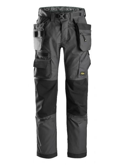 Pantalon pour poseur de sol avec poches holster+, FlexiWork SNICKERS 6923 Série 6