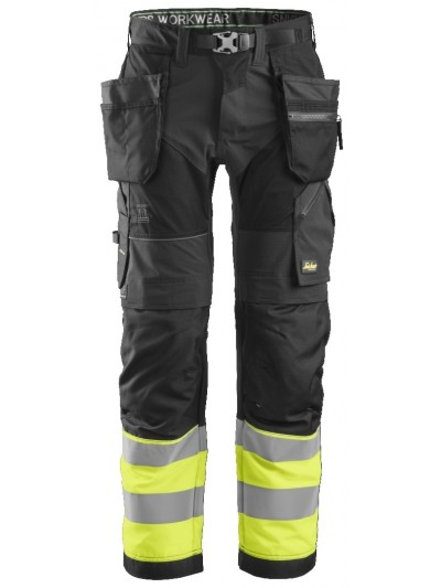 Pantalon de travail avec poches holster haute visibilité, FlexiWork, Classe 1 SNICKERS 6931 Série 6