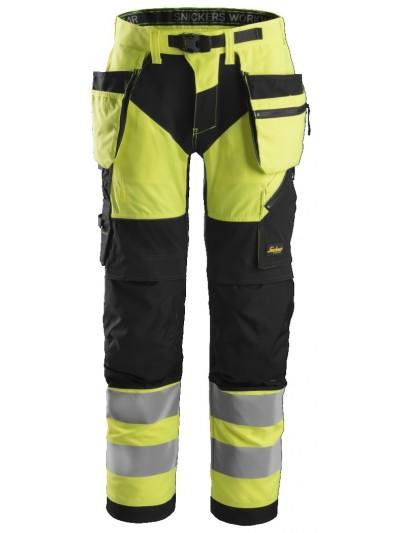 Pantalon de travail haute visibilité avec poches holster, FlexiWork, Classe 2 SNICKERS 6932 Série 6