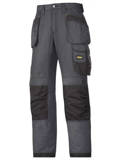 Pantalon d'artisan Ripstop avec poche holster gris acier