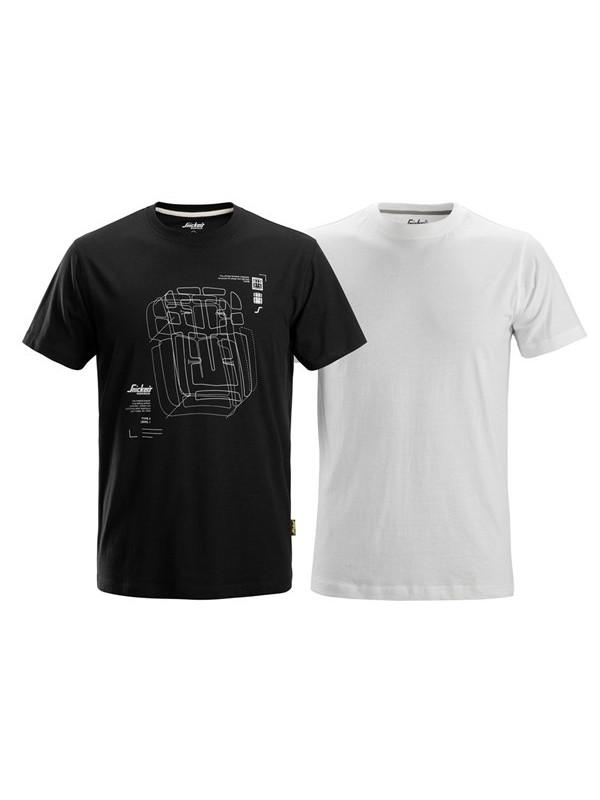 T-Shirt with Artwork Print, Lot de 2 T-shirt  SNICKERS 2522
