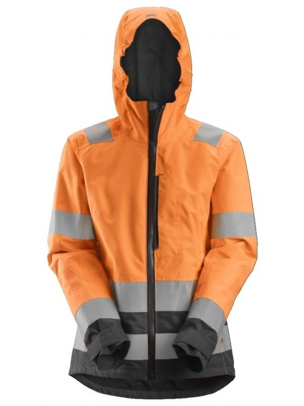 Veste imperméable pour femme haute visibilité, Classe 2/3 AllroundWork SNICKERS 1347