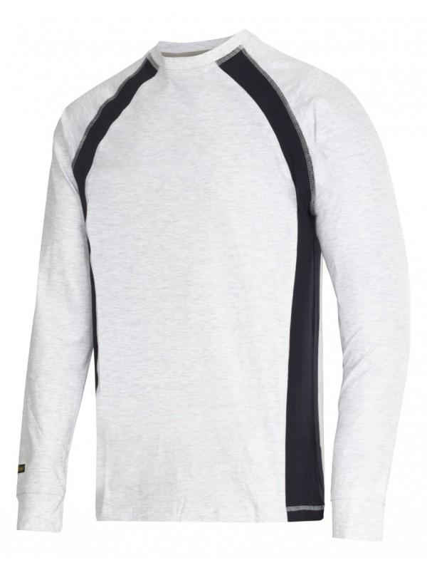 T-shirt manches longues blanc et noir
