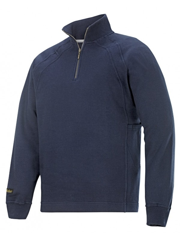 Sweat shirt zippé avec Multi pocket marine