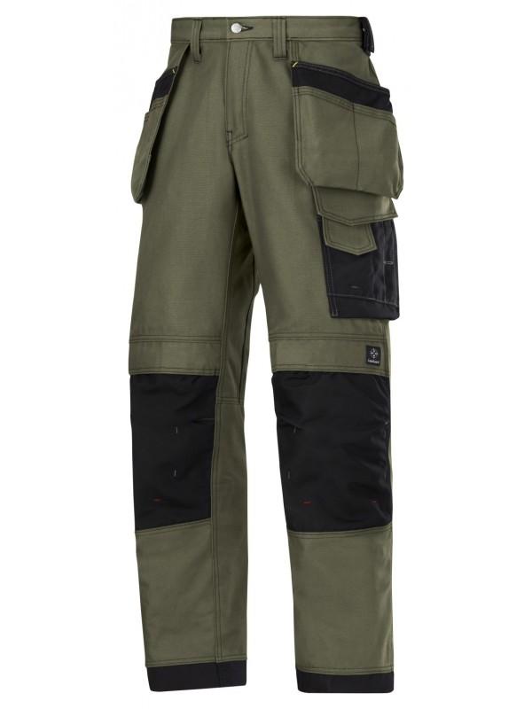 Pantalon d'artisan en canvas + khaki