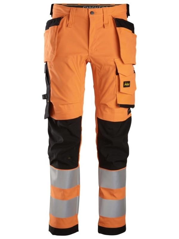 Pantalon en tissu extensible avec poches holster, haute visibilité, Classe 2 SNICKERS 6243 Série 6