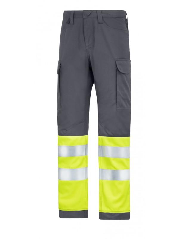 Pantalon de service avec bandes réfléchissantes  gris acier