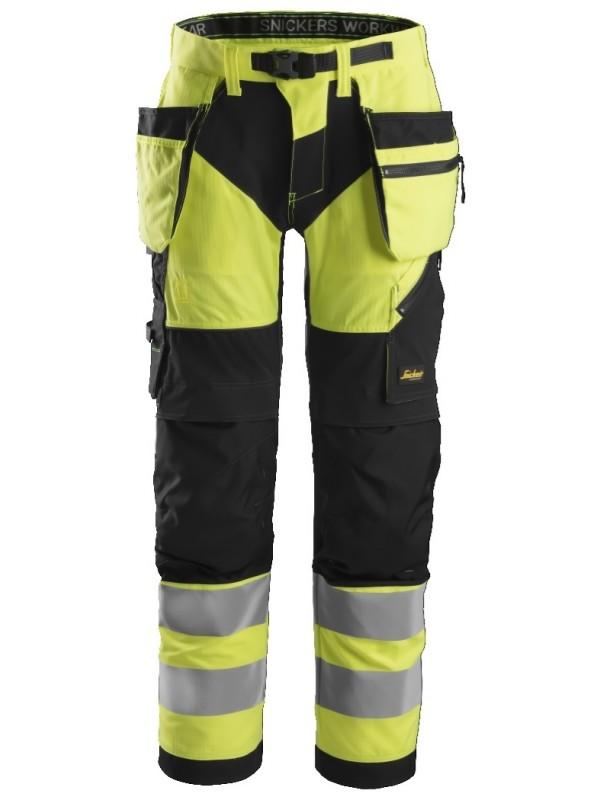 Pantalon de travail haute visibilité avec poches holster, FlexiWork, Classe 2 SNICKERS 6932