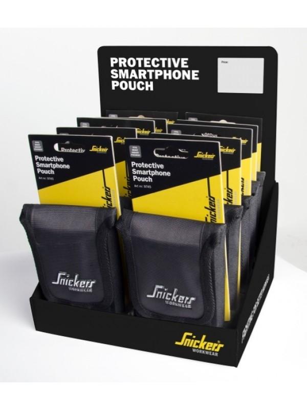 Poche de protection pour téléphone portable - lot de 10 avec présentoir SNICKERS 9755