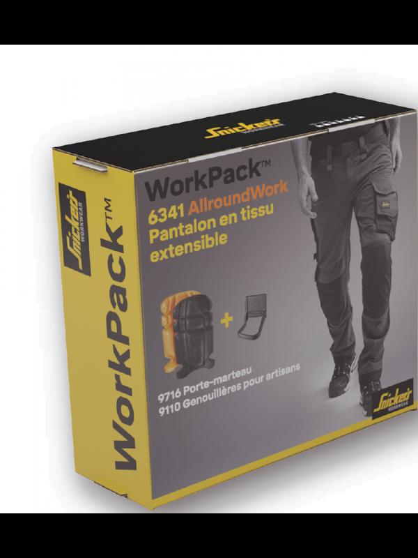 WORK PACK Pantalon 6341 + Porte-marteau + Genouillères SNICKERS